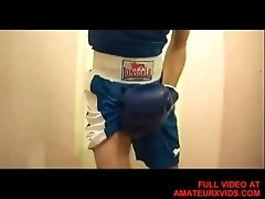 Boxer Wanking After Practice