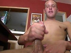 Lustful gay called TJ jerks his big weiner in his room