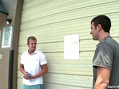 Cameron Foster and Spencer Fox make ardent homosexual love in garage